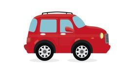 在红色背景的红色汽车象 向量例证