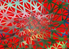 在红色背景的色的格子 免版税库存图片