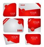在红色设置的销售横幅 库存例证