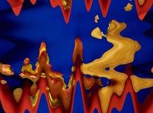 在红色,蓝色和黄色颜色的抽象构成 库存图片