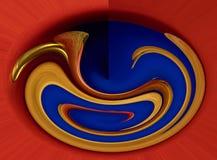 在红色,蓝色和黄色颜色的抽象构成 免版税库存图片