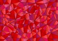 在红色,紫罗兰色和桃红色颜色的抽象几何样式 免版税图库摄影