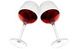 在红葡萄酒之下 免版税库存照片