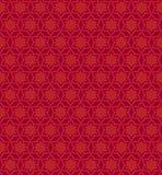 在红颜色的传染媒介花卉无缝的样式 向量例证