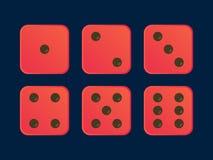 在红颜色的动画片模子平的例证 免版税库存照片