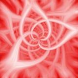 在红颜色的美丽的花饰 免版税库存图片
