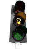在红绿灯的电灯泡 库存照片