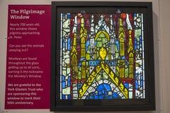 在约克大教堂的朝圣窗口 免版税图库摄影
