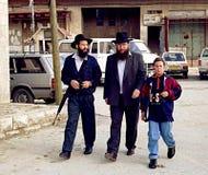 在约旦河西岸的以色列人 库存图片