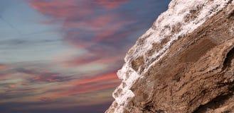 在约旦的死海盐 库存照片