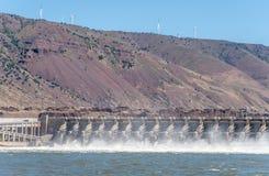 在约翰迪水坝的溢洪道 库存照片