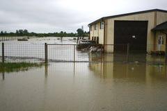 在纪录的最坏的洪水在巴尔干在塞尔维亚 免版税库存图片