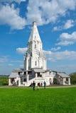 在纪念庄园Kolomenskoe的基督徒寺庙在莫斯科 免版税库存照片