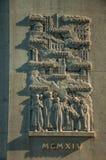 在纪念碑的深浮雕大理石雕塑致力第一次世界大战在巴黎 免版税库存照片