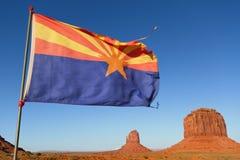 在纪念碑谷的亚利桑那标志 免版税图库摄影