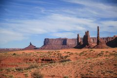 在纪念碑谷的岩石 库存图片