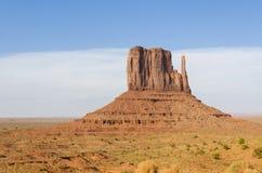 在纪念碑谷的巨型独石 库存照片