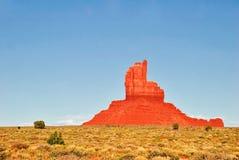在纪念碑谷的晴朗的夜间 arizonian 免版税库存照片