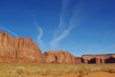 在纪念碑谷,亚利桑那的岩石 库存照片