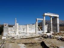 在纳克索斯海岛上的得墨忒耳的寺庙  免版税库存照片