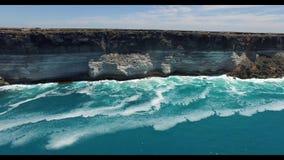 在纳拉伯平原边缘的伟大的澳大利亚海岸线 影视素材
