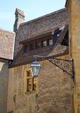 在纳沙泰尔城堡里面的老门,瑞士 库存图片
