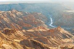 在纳米比亚的南部的鱼河峡谷 免版税图库摄影