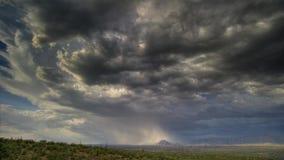 在纳米比亚的沙漠的大雨秋天 免版税库存照片