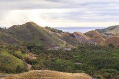 在纳闽Bajo,印度尼西亚的日落 库存图片