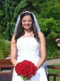 在纵向之外的新娘 图库摄影
