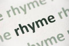 在纸宏指令打印的词押韵 免版税库存照片