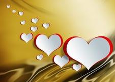 在纸工艺的心脏形状用鸡蛋 库存图片
