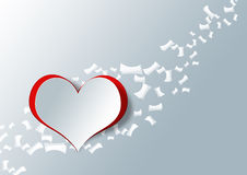 在纸工艺的心脏形状 库存照片