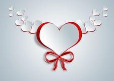 在纸工艺的心脏形状 库存图片