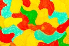 在纸张的抽象水彩图画 库存照片