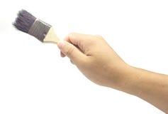 在纸张的毛笔画空的灰色现有量模仿 免版税库存照片