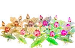 在纸愉快的明信片的水彩绘画五颜六色笨人开花 库存照片
