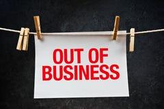 在纸打印的企业笔记外面 免版税库存图片