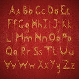 在纸板绣的传染媒介英语字母表 库存照片