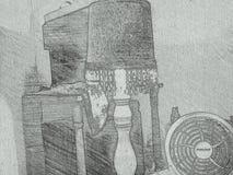 在纸的Ð'rawing 图库摄影