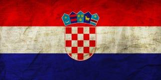 在纸的克罗地亚旗子 库存照片