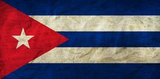 在纸的古巴旗子 图库摄影