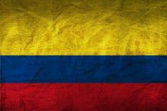 在纸的哥伦比亚旗子 免版税图库摄影