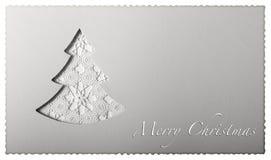在纸的圣诞卡树 库存照片