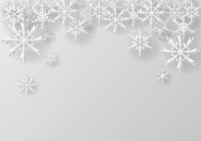 在纸的圣诞节雪花 库存图片
