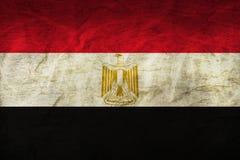 在纸的埃及旗子 免版税库存图片