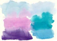 在纸的多彩多姿的油漆污点 库存图片