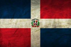 在纸的多米尼加共和国旗子 图库摄影