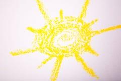 在纸的太阳 库存照片