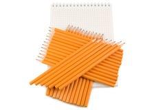 在纸的很多铅笔 库存图片